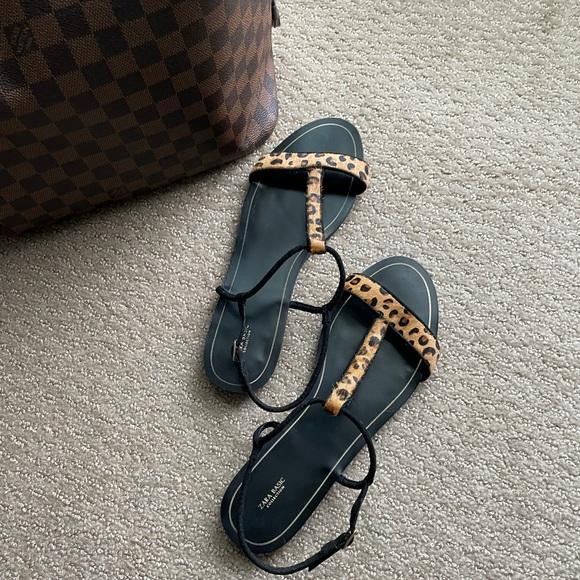 ZARA Leopard (Pony Hair) Sandals